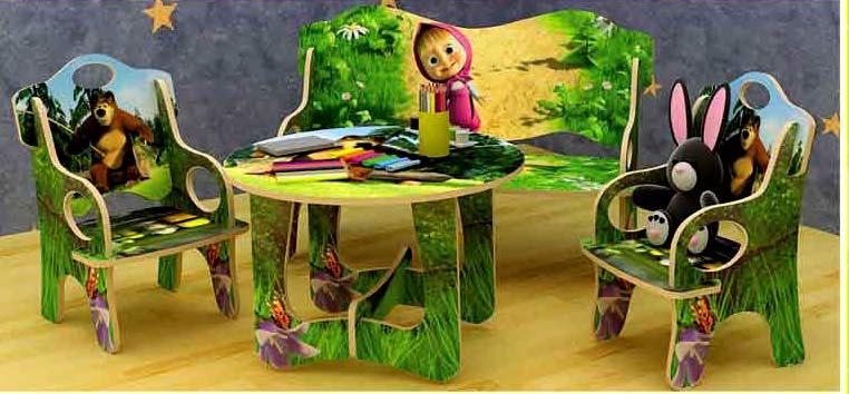 Мебель для детского сада: модели и материалы.