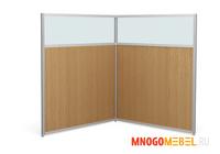 Комплект офисных перегородок комбинированных ЛМК 134/80  +  ЛМК 134/120