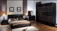 Спальня TINEO (ТИНЕО) (чёрный, серый)