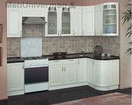 Кухонный гарнитур Трапеза угловой 1230х2100мм с гнутым фасадом (h шкафов 900)