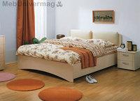 Кровать Мелисса с мягкой спинкой б/м