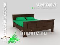 Кровать двуспальная VERONA-1600 в итальянском стиле