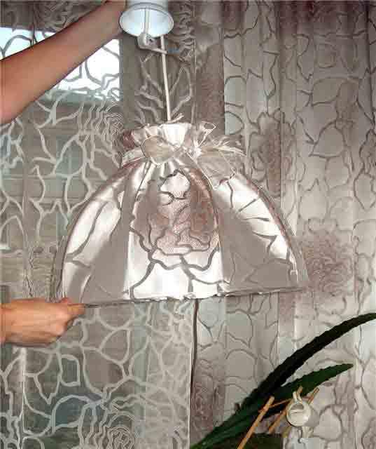 как декорировать лампу своими руками