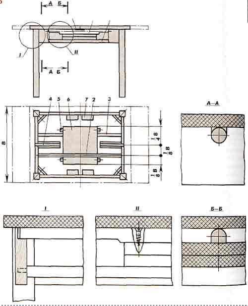 Раздвижной круглый стол своими руками чертежи